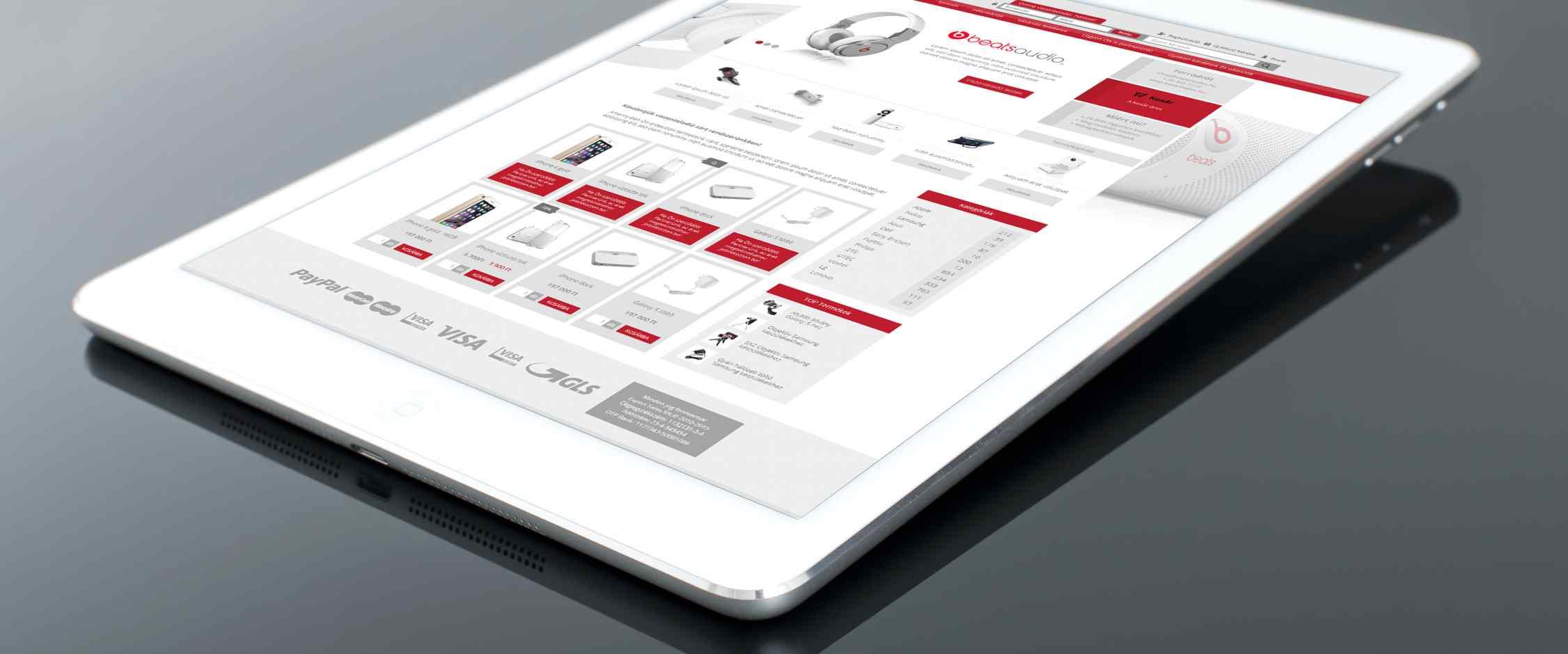 Expert Sales webáruház fejlesztés