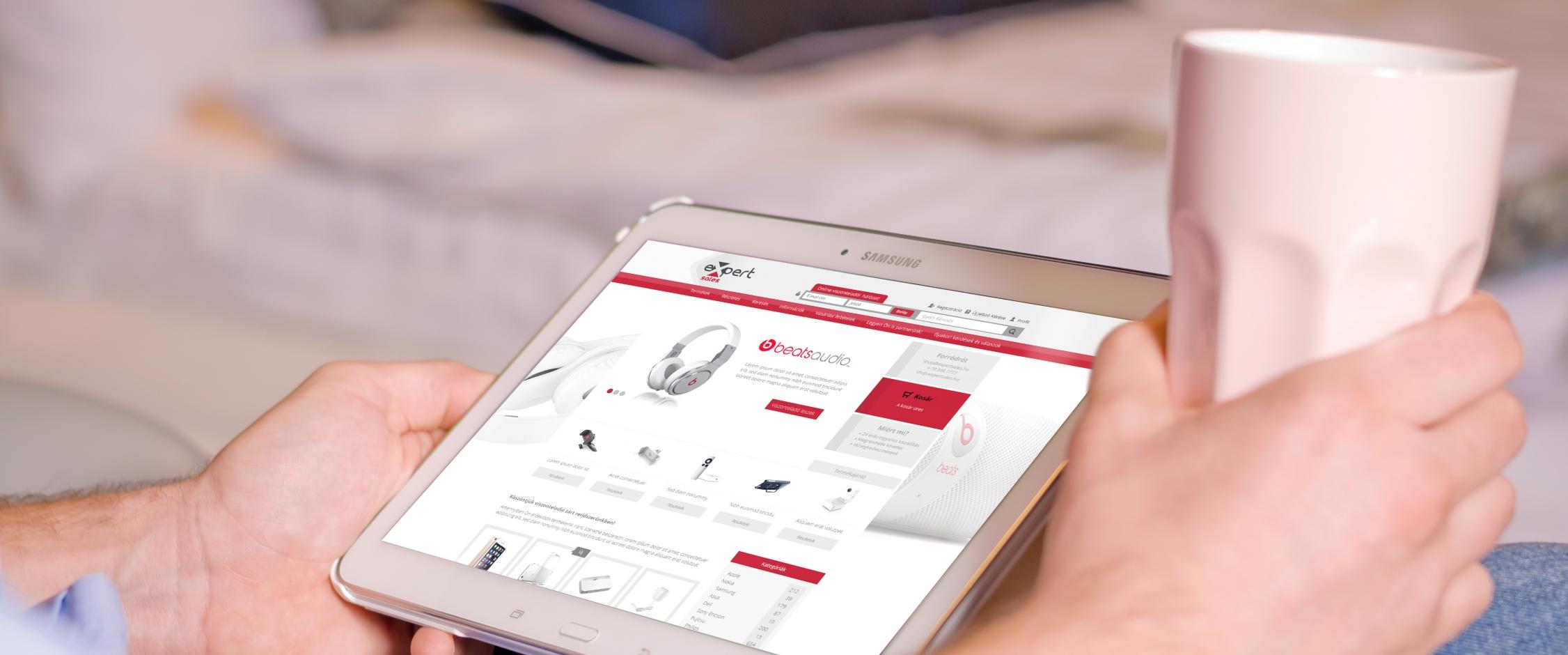 Expert Sales webáruház készítés