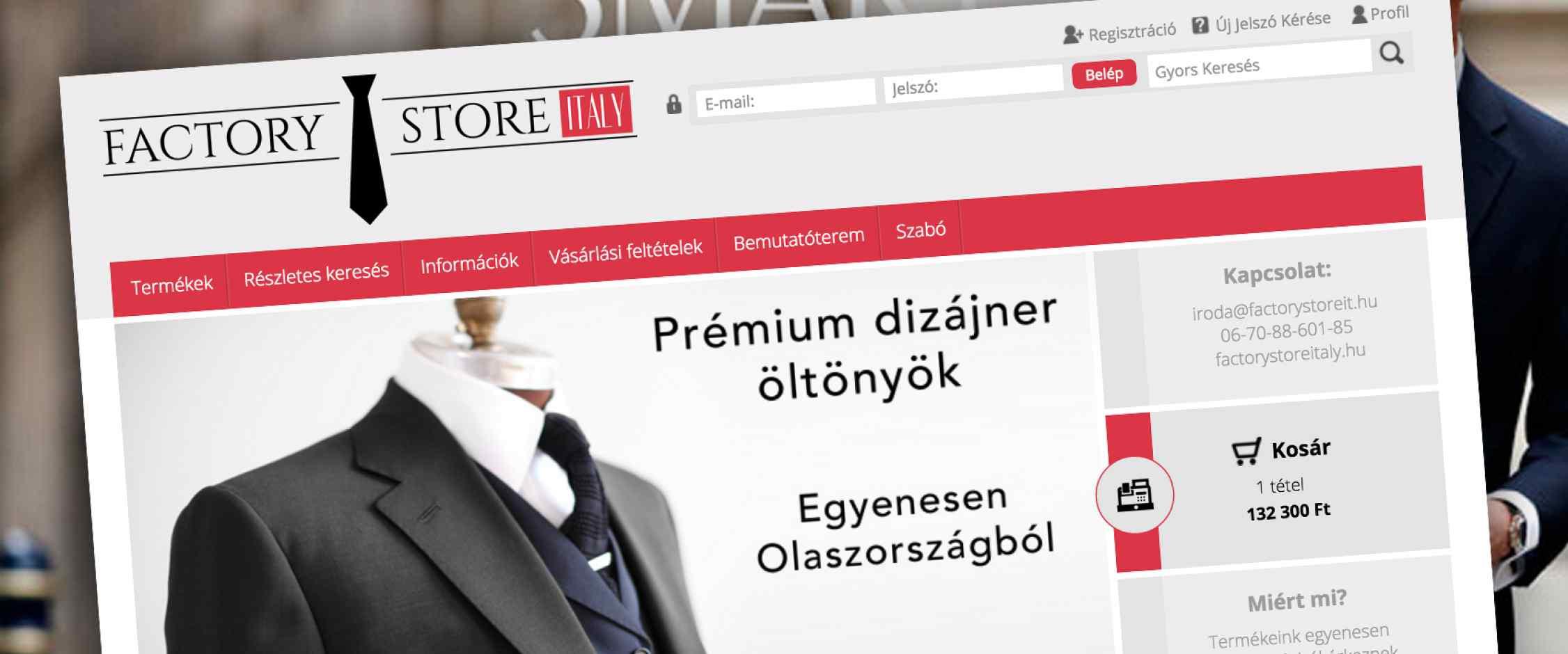 Factory Store Italy webáruház