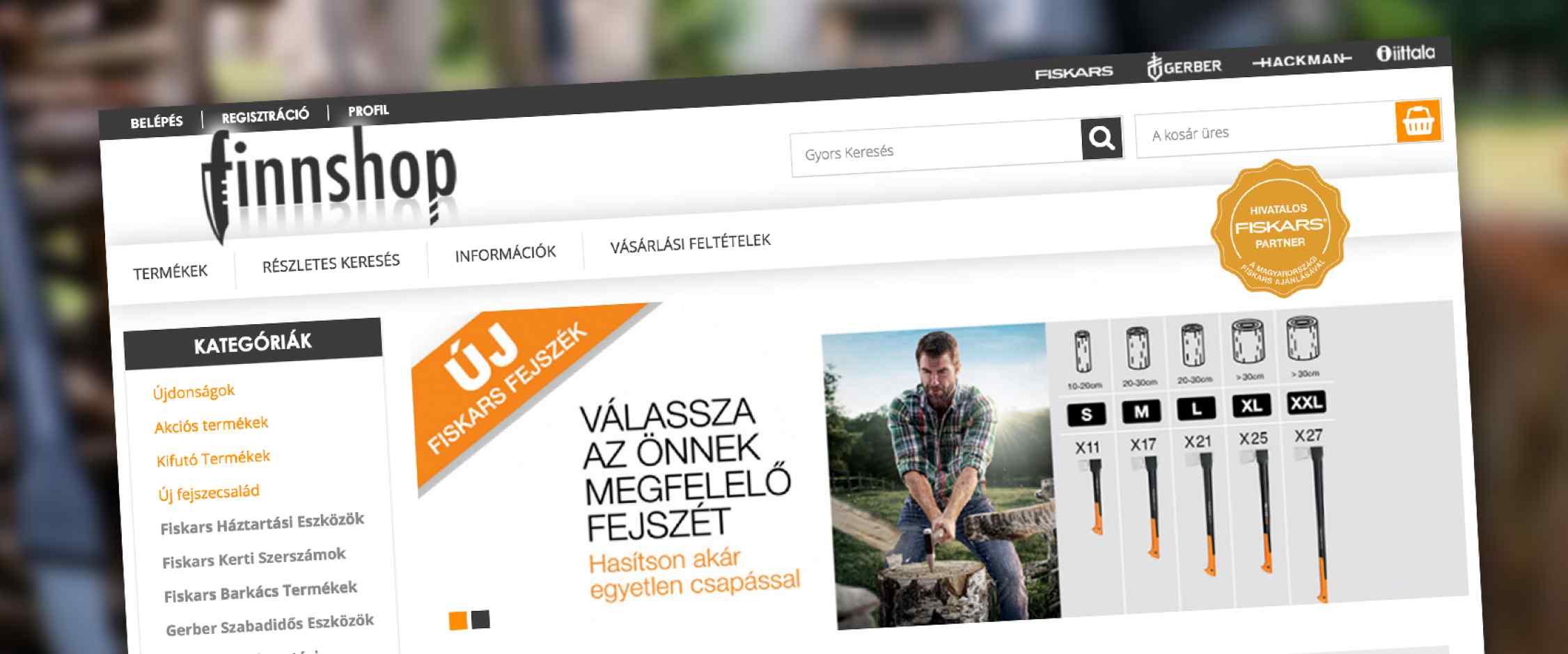 Finnshop webáruház design