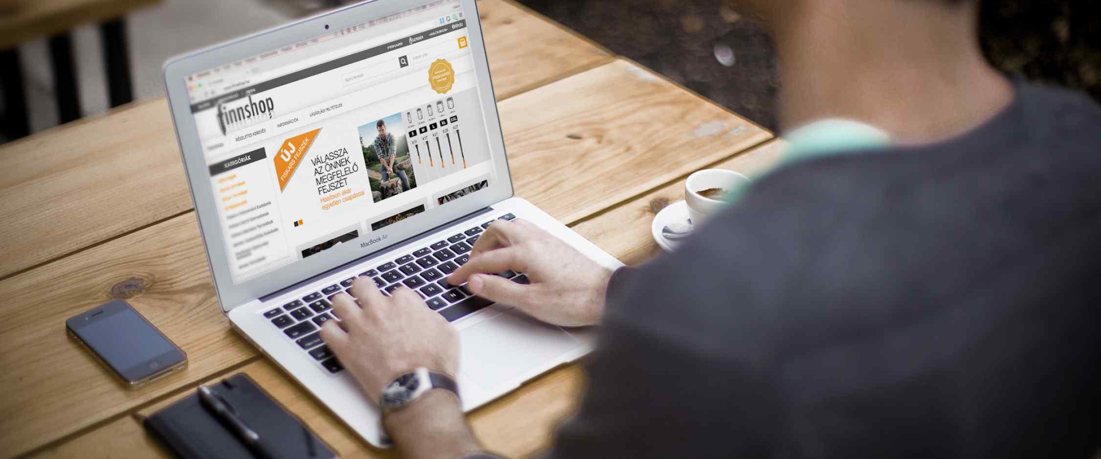 Finnshop webshop készítés