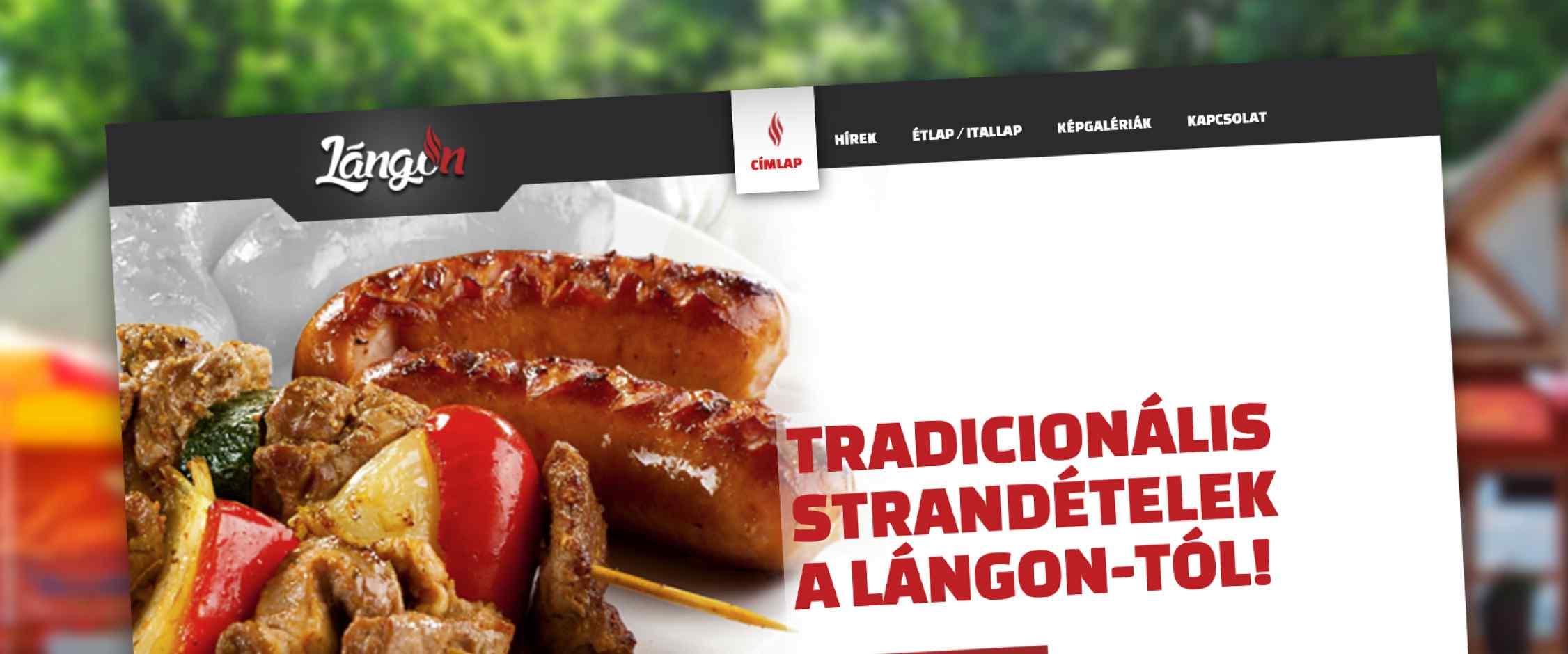 LángOn weblap elkészítése