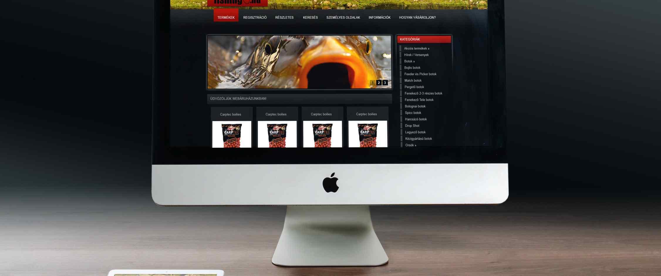 Myfishing webáruház készítés
