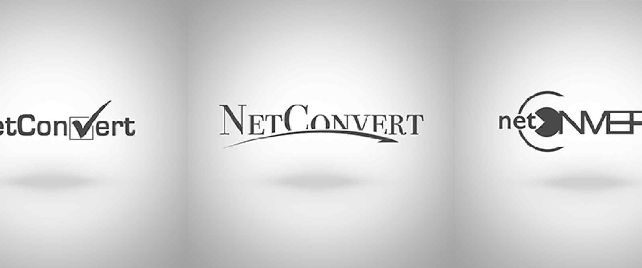 NetConvert logó variációk