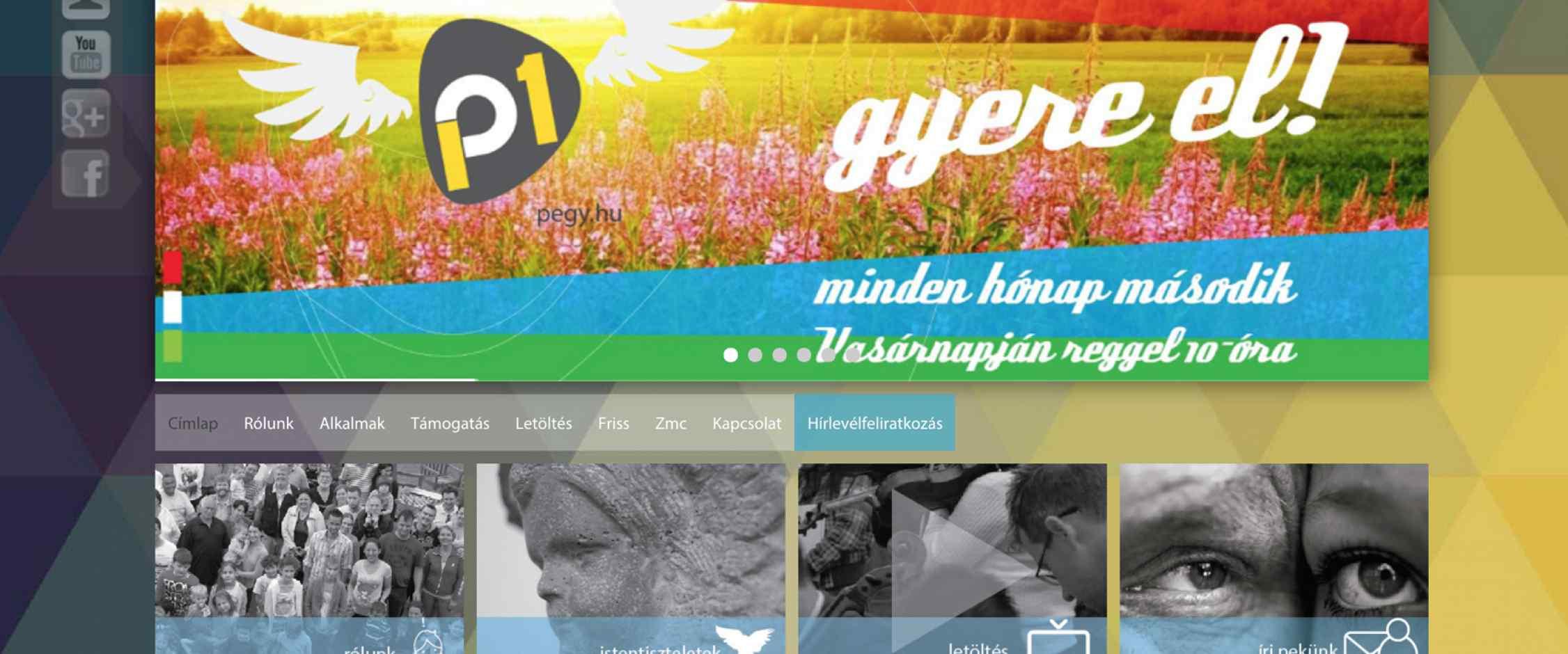 Pesterzsébeti Evangélikus Gyülekezet weblap tervezés