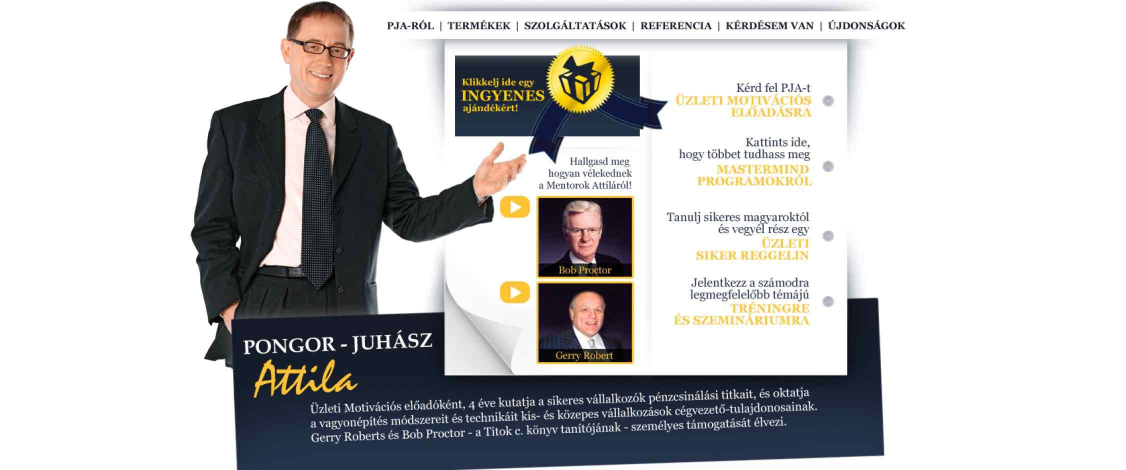 Pongor-Juhász Attila honlapja