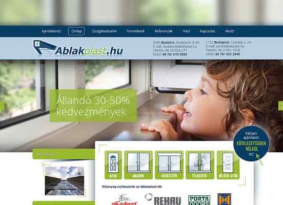 Nyílászáró weboldal készítés