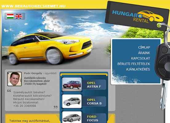 Egy kecskeméti autókölcsönző weboldalának fejlesztése
