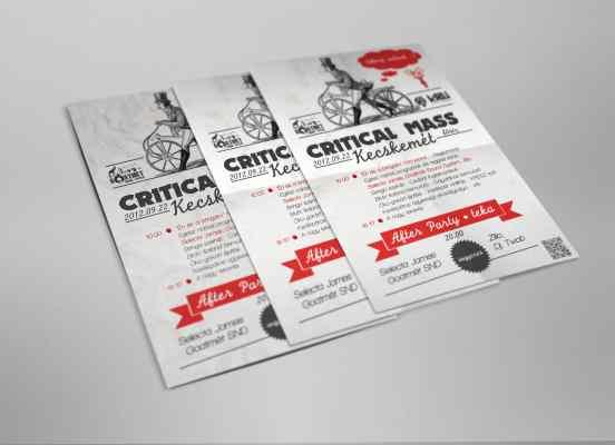 Kecskeméti Critical Mass plakáttervezés