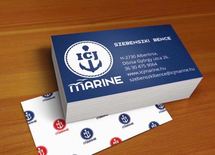 ICJ Marine névjegykártya tervezés