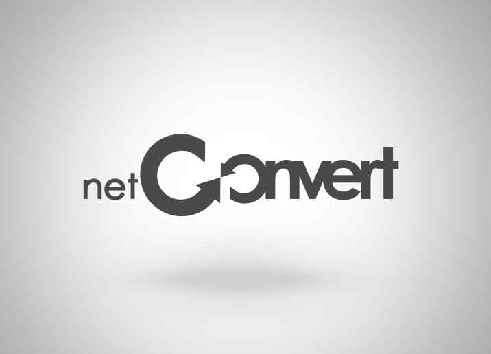 NetConvert logó tervezés
